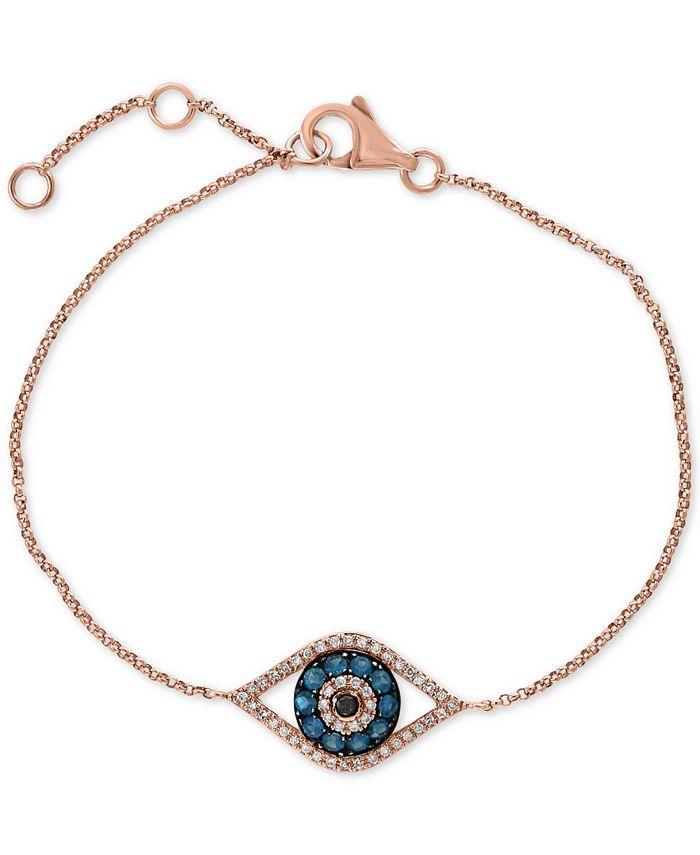 EFFY Collection - Diamond Evil Eye Bracelet (1/3 ct. t.w.) in 14k Rose Gold