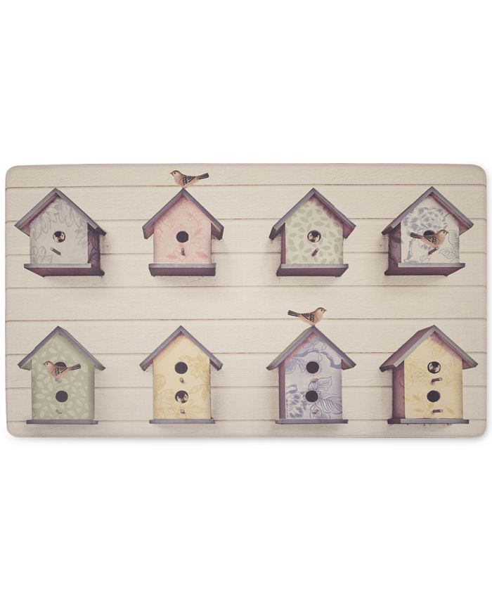 "Laura Ashley - Birdhouse Anti-Fatigue Gelness 20"" x 32"" Kitchen Mat"
