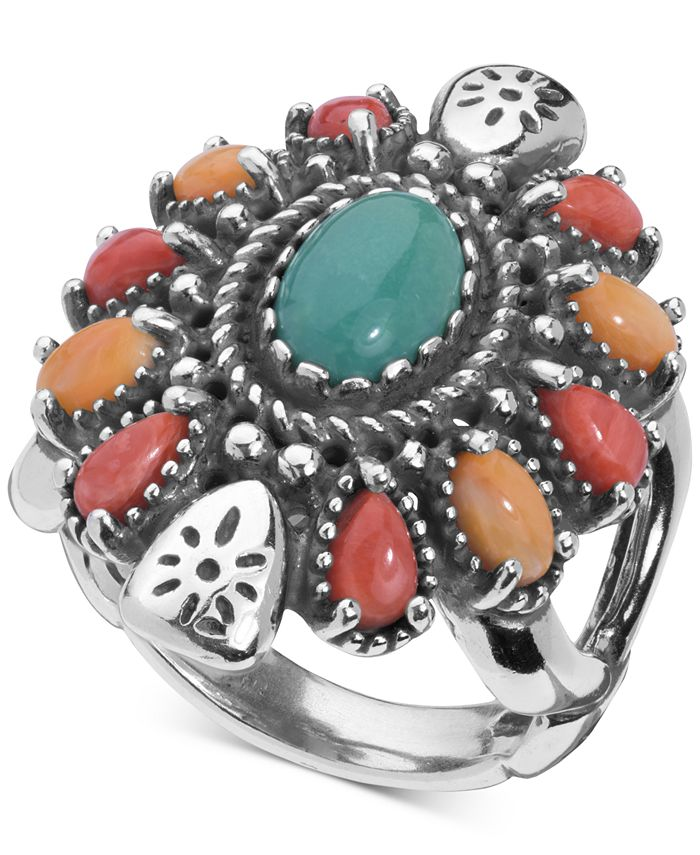 American West - Multi-Gemstone Statement Ring (3-1/2 ct. t.w.) in Sterling Silver