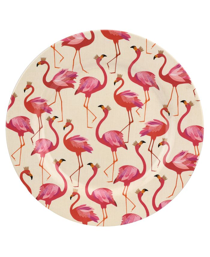 Portmeirion - Sara Miller Flamingo Melamine 11'' Dinner Plates, Set of 4