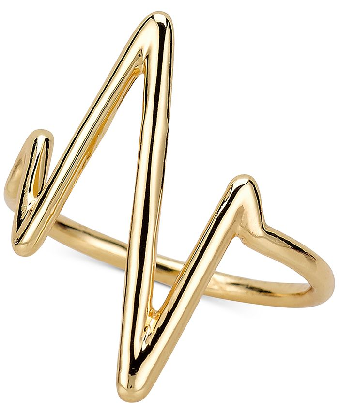 Sarah Chloe - Heartbeat Ring in Sterling Silver or 14K Gold-Plated Sterling Silver
