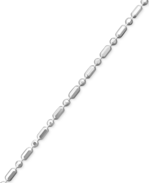 "Giani Bernini Sterling Silver Anklet, 10"" Dot Dash Link Chain"