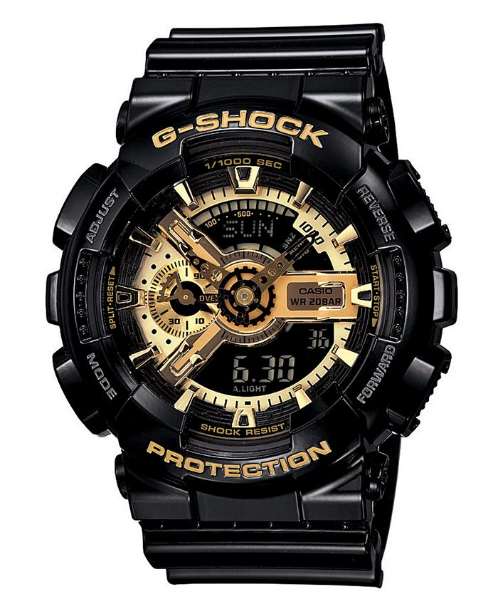 G-Shock - Men's Analog Digital Black Resin Strap Watch GA110GB-1A