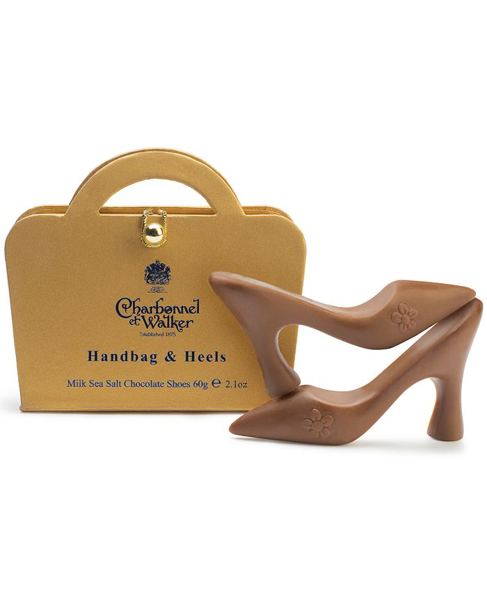 Charbonnel et Walker - Gold Handbag & Sea Salt Caramel Chocolate Shoes
