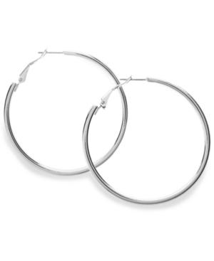 Style&co. Earrings, Silver Tone Hoop Earrings
