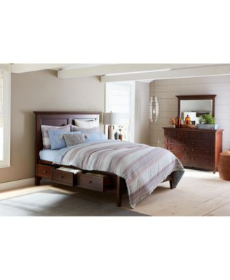 Matteo Storage Platform Bedroom 3 Piece Bedroom Set, Created for Macy's,  (Full Bed, Dresser and Nightstand)