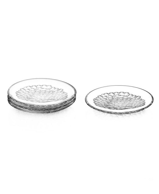 Home Styles Orrefors Pearl Dessert Plates, Set of 4