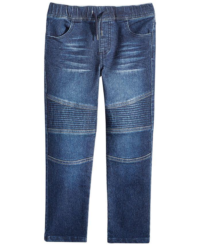Epic Threads - Toddler Boys Moto Knit Denim Jeans