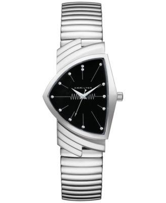Unisex Swiss Ventura Stainless Steel Bracelet Watch 32mm