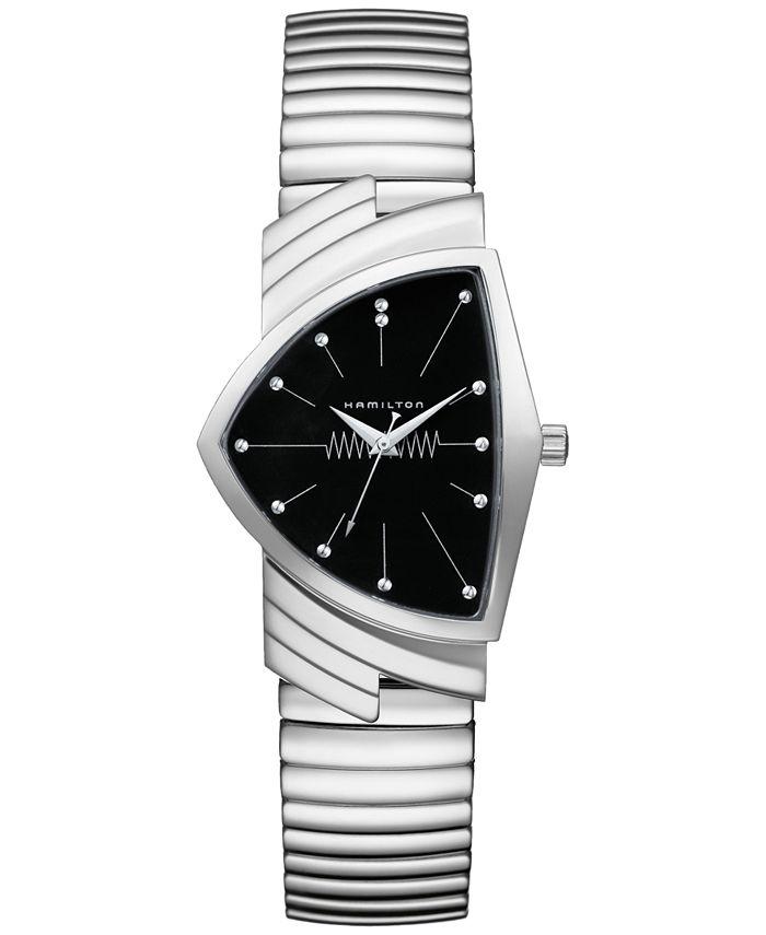 Hamilton - Unisex Swiss Ventura Stainless Steel Bracelet Watch 32mm