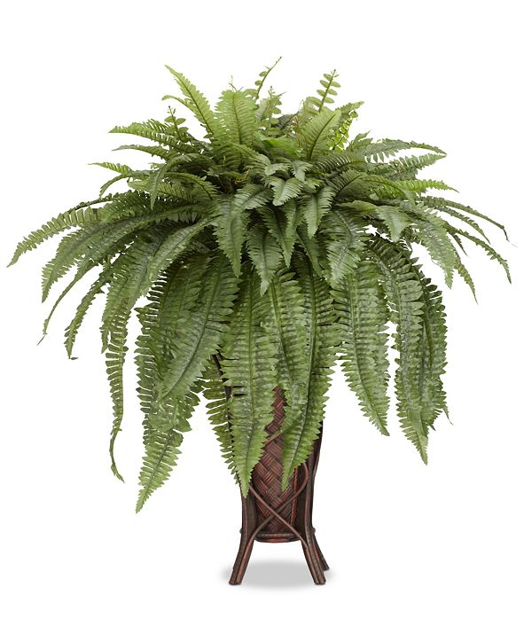 Nearly Natural Boston Fern Artificial Plant in Stand