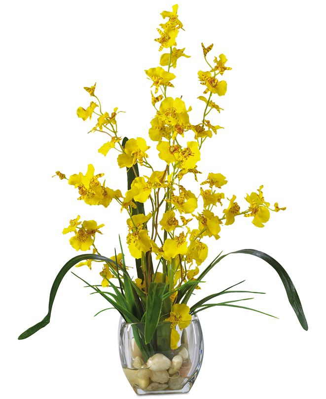 Nearly Natural Dancing Lady Orchid Liquid Illusion Artificial Flower Arrangement