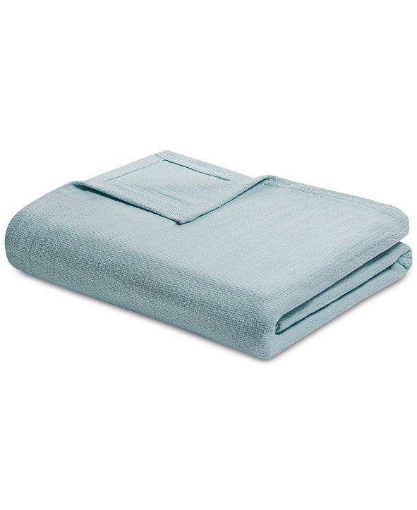 Madison Park Freshspun Cotton Basketweave Twin Blanket