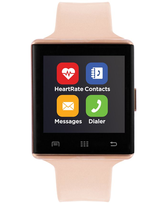 iTouch - Unisex Air 2 Blush Silicone Strap Bluetooth Smart Watch 41mm