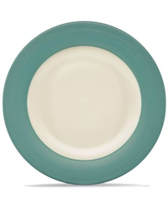 Noritake Dinnerware, Colorwave Turquoise Rim Dinner Plate
