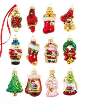 Holiday Lane Box of 12 Mini Assorted Ornaments