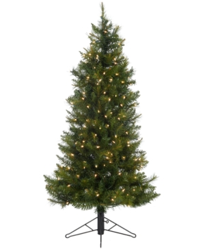 Kurt Adler Christmas Tree, 4.5' Pre Lit Classic Pine Tree