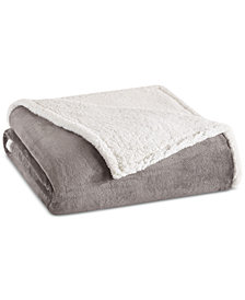 Madison Park Microlight Plush to Berber Twin Blanket