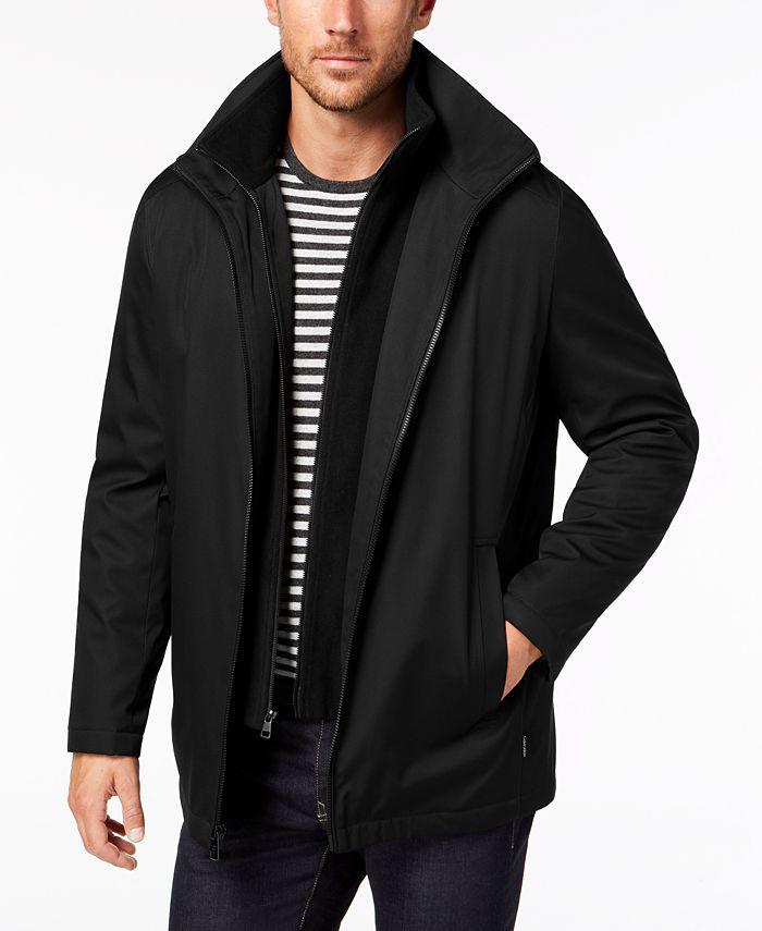 Calvin Klein - Men's Ripstop Full-Zip Jacket with Fleece Bib