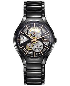 Rado Men's Swiss Automatic True Black High-Tech Ceramic Bracelet Watch 40mm