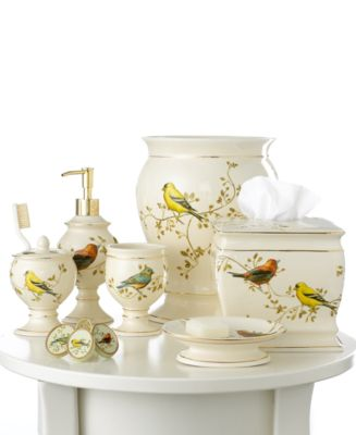 Avanti Bath Accessories, Gilded Birds Soap and Lotion Dispenser
