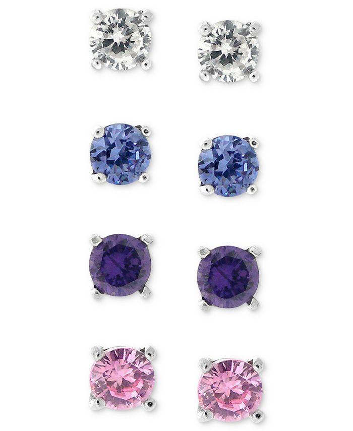 Giani Bernini - Sterling Silver Earring Set, Multistone Stud Earring Set
