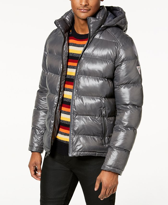 GUESS - Men's Hooded Puffer Coat
