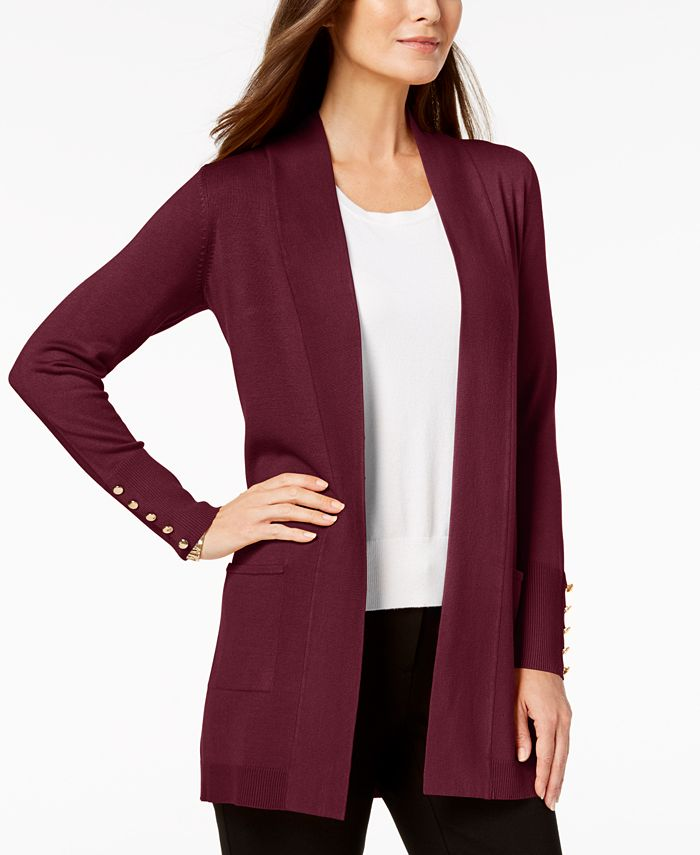 JM Collection Studded Cardigan, Created for Macys