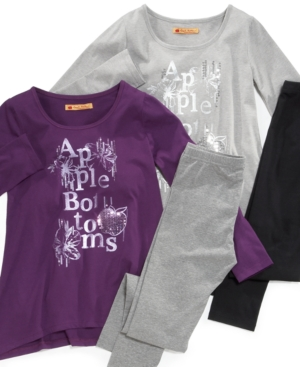 Apple Bottoms Kids Set, Girls Tunic and Leggings Set