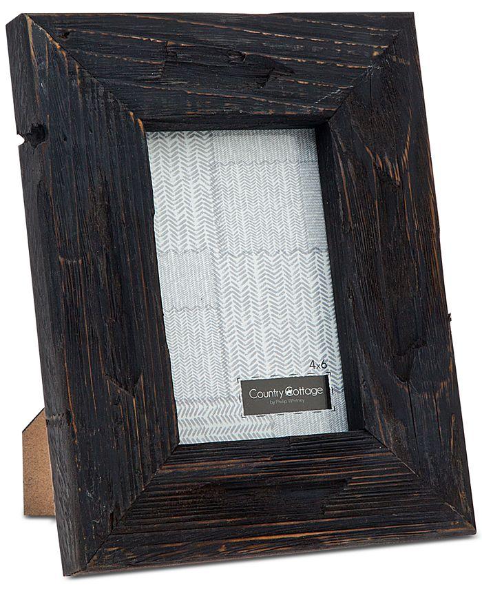 "Philip Whitney - 4"" x 6"" Black Barn Picture Frame"