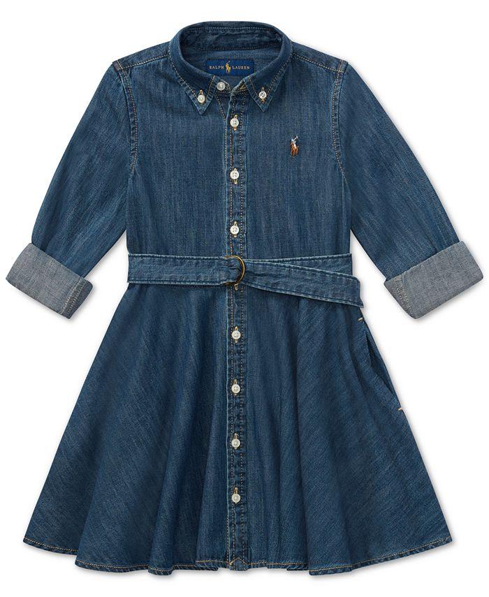 Polo Ralph Lauren - Little Girls Cotton Denim Shirtdress