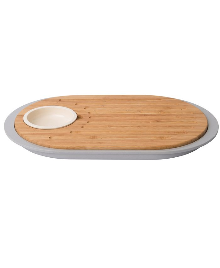 BergHOFF - Leo 2-sided Tapas Cutting Board with Tray