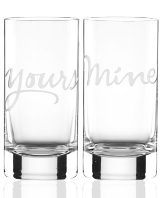 Mine and Yours Highball Glasses Set