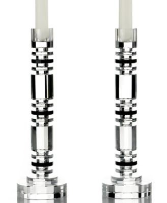 Lighting by Design Candle Holders, Set of 2 Aurora Candlesticks