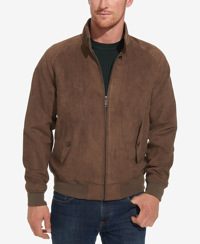 Weatherproof Men's Faux-Suede Full-Zip Bomber Jacket