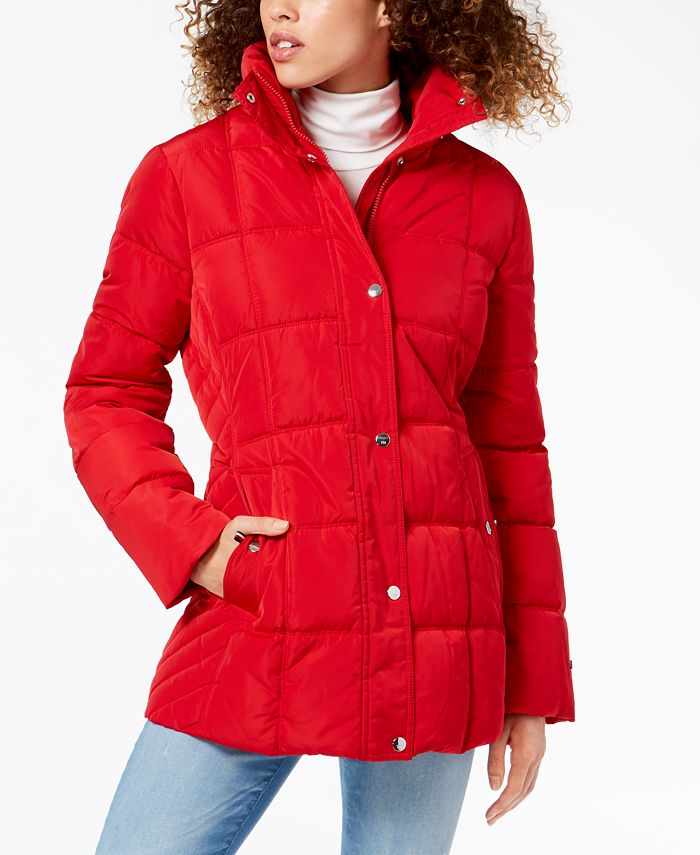 Tommy Hilfiger - Hooded Faux-Fur-Trim Puffer Coat