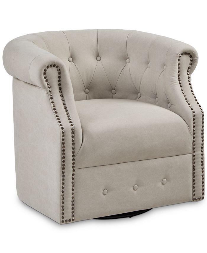 Furniture - Owen Swivel Chair, Quick Ship