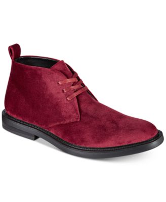 INC Men's Salem Velvet Chukka Boots