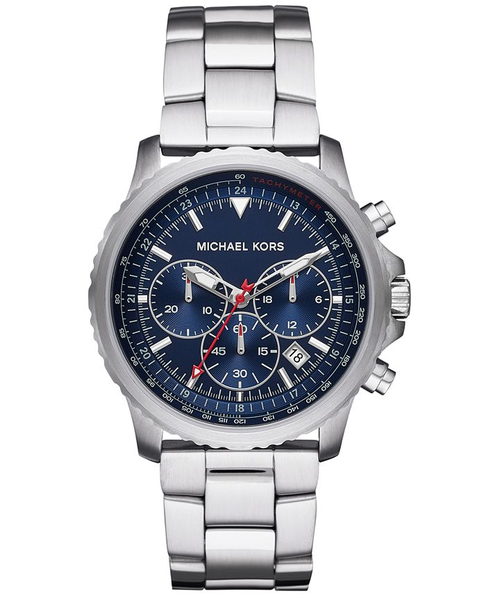 Michael Kors - Men's Chronograph Theroux Stainless Steel Bracelet Watch 42mm