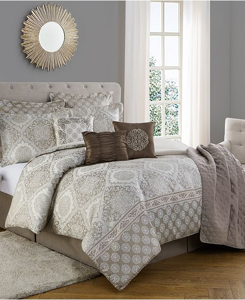Mytex CLOSEOUT! Bella 10 Piece Comforter Set King & Reviews   Home