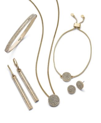 Pavé Disc Stud Earrings, Created for Macy's