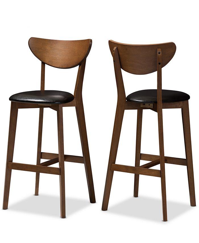 Furniture - Bethanye Bar Stool (Set Of 2), Quick Ship