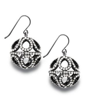 Lauren by Ralph Lauren Earrings, Large Pave Crystal Filgree Drop Earrings