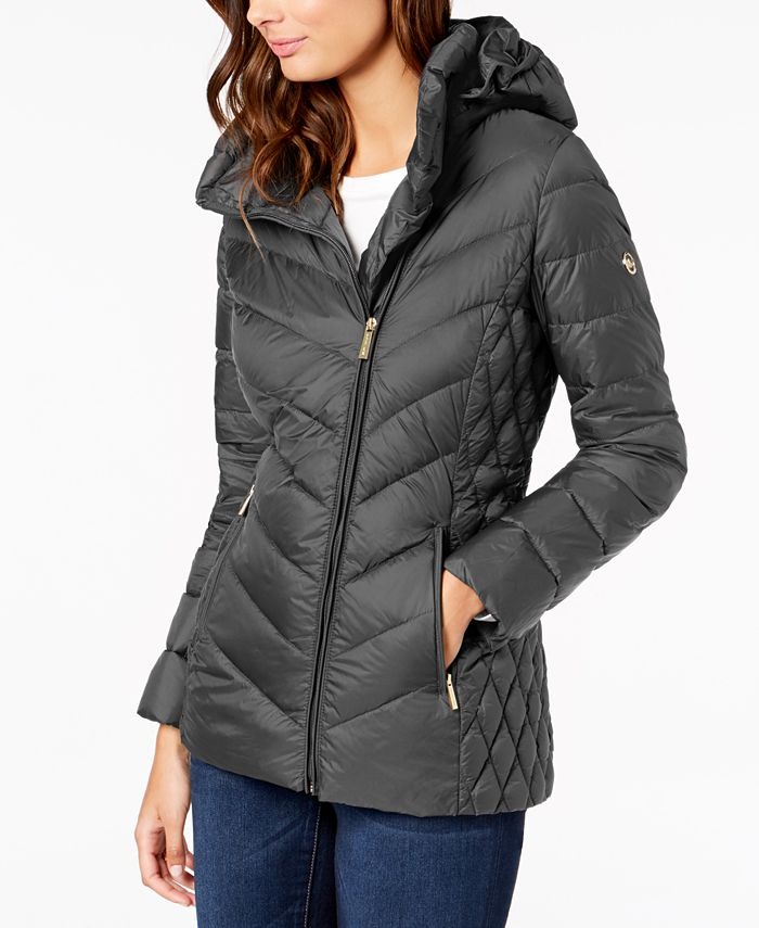 Michael Kors - Asymmetrical Hooded Puffer Coat