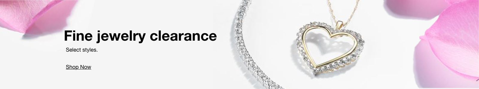 Fine Jewelry clearance, Select styles, Shop Now