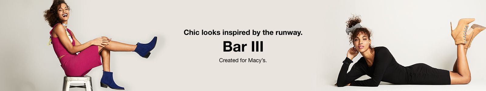 Chic looks inspired by the runway, Bar III, Created for Macy's