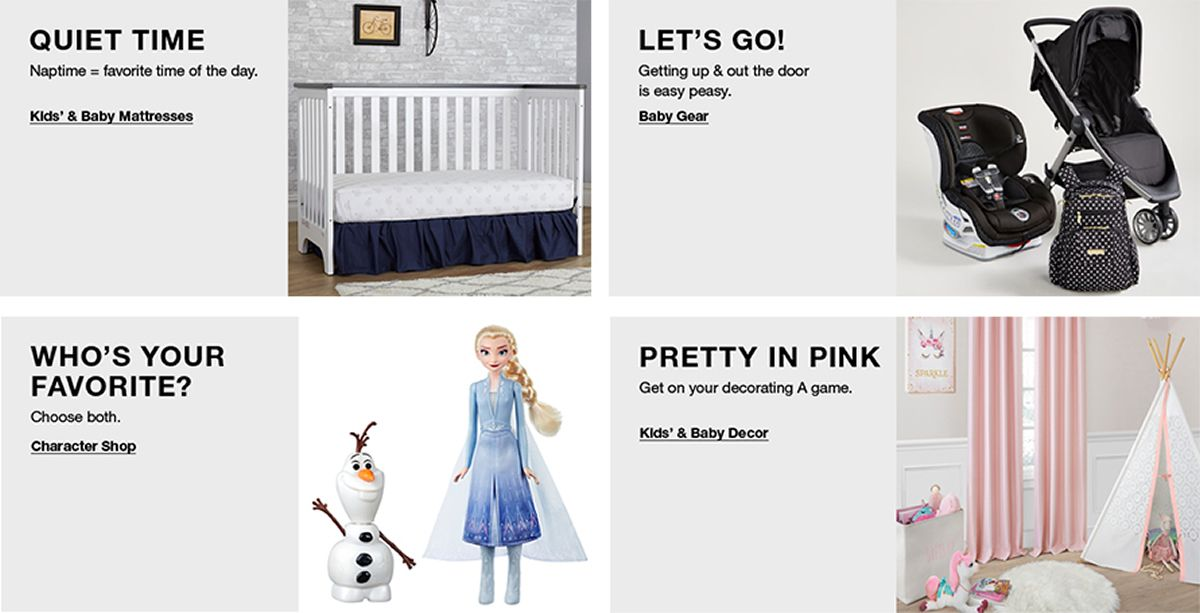 Quiet Time, Naptime = favorite time of the day, Let's Go! Getting up and out the door is easy peasy, Who's Your Favorite? Choose both, Pretty in Pink, Get on your decorating a game