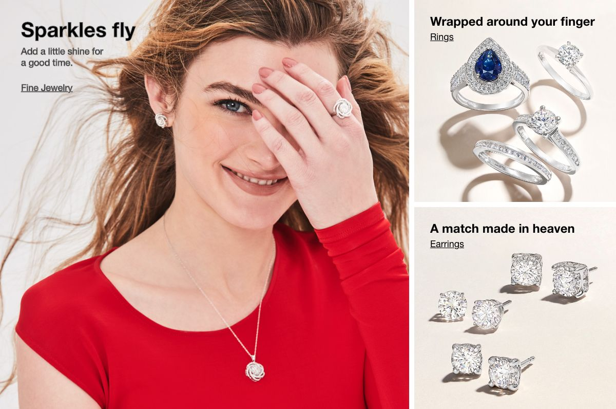 Sparkles fly, Add a little shine for a good time, Fine Jewelry, Wrapped around your finger, Rings, A match made in heaven, Earrings