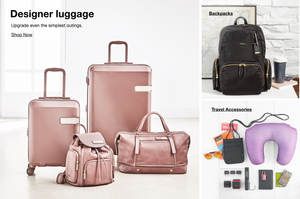 Designer luggage, Upgrade even the simplest outings, Shop Now, Backpacks, Travel Accessories