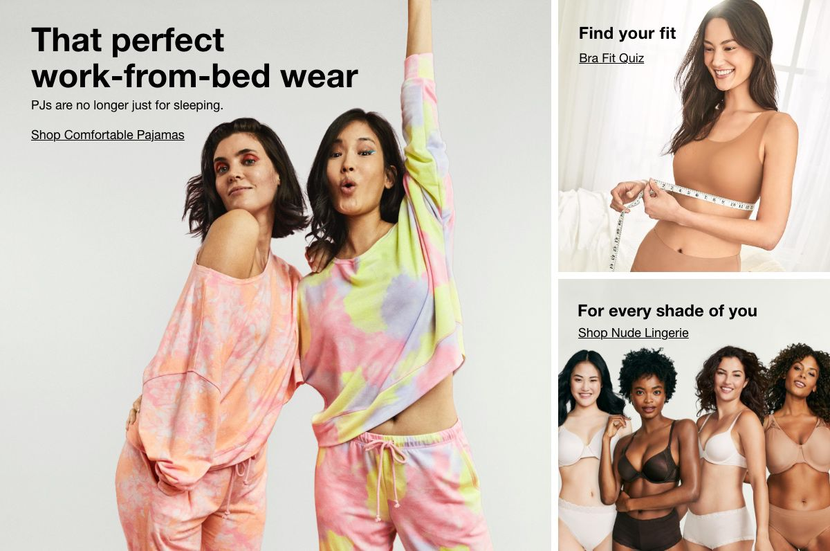 That perfect work-from-bed wear, Find Your fit, Bra Fit Quiz For every shade of you, Shop Nude Lingerie
